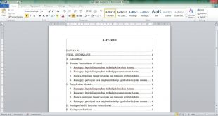 Cara Membuat Daftar Isi di Word Secara Otomatis dan Manual