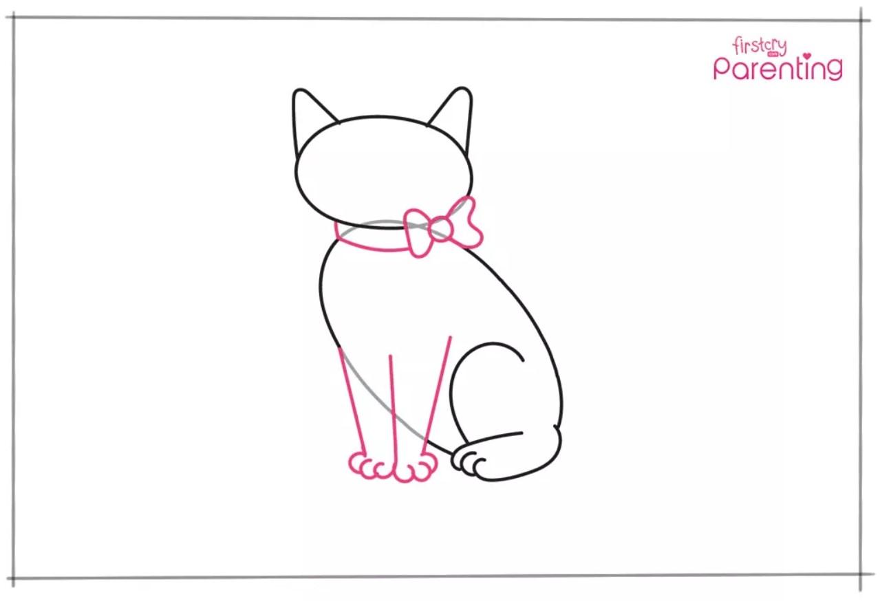 Cara Menggambar Kucing Untuk Anak-Anak 3