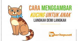 Cara Menggambar Kucing Untuk Anak-Anak