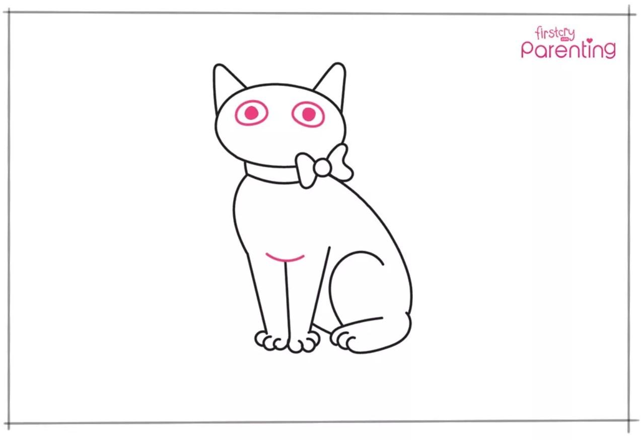 Cara Menggambar Kucing Untuk Anak-Anak 4