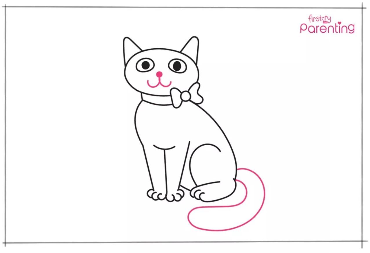 Cara Menggambar Kucing Untuk Anak-Anak 5