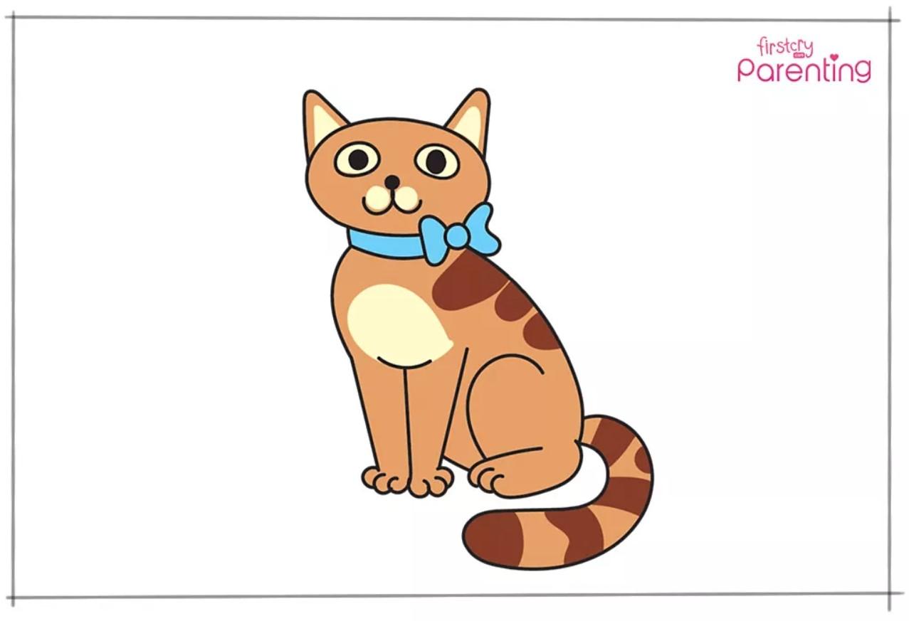 Cara Menggambar Kucing Untuk Anak-Anak 6