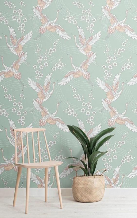 Wallpaper Diding Desain burung yang bagus