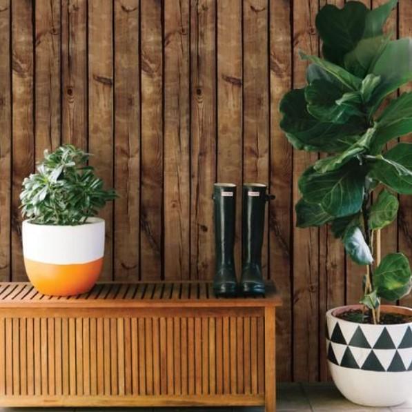 Wallpaper Dinding Desain kayu