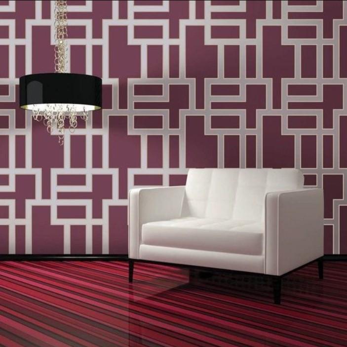 Wallpaper Dinding Desain labirin