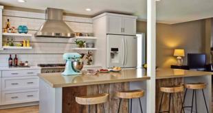 Desain Dapur Minimalis Menyatu dengan Ruang Makan Model Bar