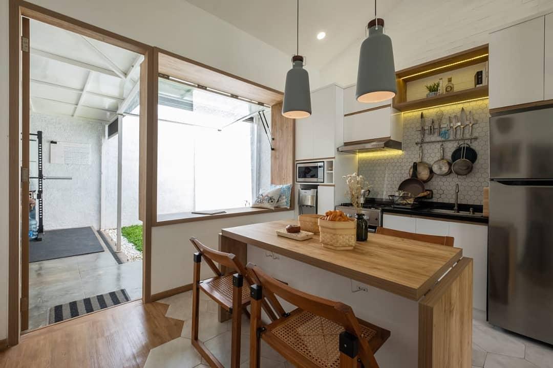 Desain Dapur Minimalis Menyatu dengan Ruang Makan