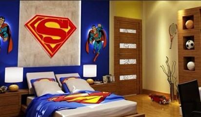 Desain Kamar Tidur Yang Menarik Bagi Anak Laki – Laki Superman