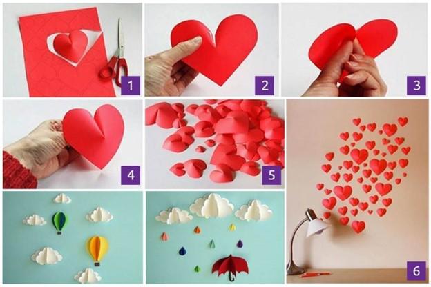 Hiasan Dinding Bentuk Love Hati