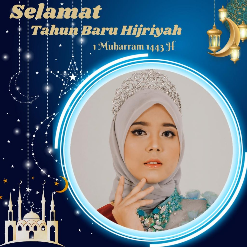 Twibbon kartu ucapan selamat Tahun Baru Islam, 1 Muharram 1443 H, Selasa, 10 Agustus 2021